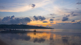 Jimbaran Beach Sunset Royalty Free Stock Images