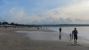 Jimbaran plaża, Bali wyspa, indonezyjczyk zdjęcia stock