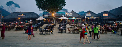 Jimbaran strand Bali Arkivbild