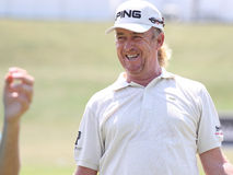 Jimenez at golf French Open 2010 Royalty Free Stock Images