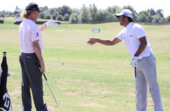 Jimenez and Larrazabal at golf French Open 2010 Royalty Free Stock Photography