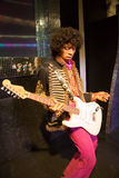Jimi Hendrix in Madame Tussauds of London Stock Photos