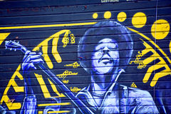 Jimi Hendrix mural Royalty Free Stock Images