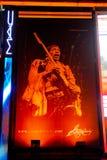 Jimi Hendrix Reklameanzeige für George Kalinsky Lizenzfreie Stockfotografie