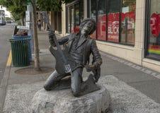 Jimi Hendrix Statue door Daryl Smith, Seattle, Washington stock fotografie
