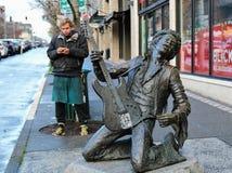 Jimi Hendrix statue in Seattle, Washington royalty free stock photography