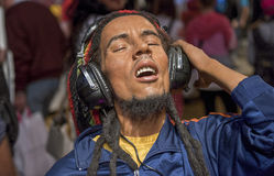 Bob Marley. Wax figure in Madame Tussauds museum Stock Photography