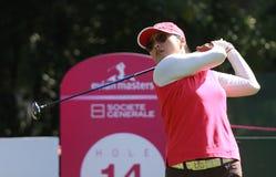 Jimin Kang på golf Evian styrer 2012 royaltyfria foton