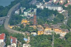 Jiming寺庙,南京,中国 库存图片