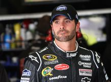 Jimmie Johnson à la piste Images libres de droits