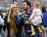 Jimmie Johnson e família Foto de Stock Royalty Free