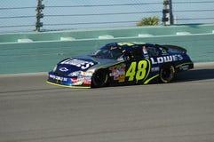 Jimmie Johnson för nummer 48 racerbil Royaltyfri Fotografi