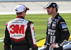 Jimmie Johnson and Greg Biffle Stock Images