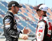 Jimmie Johnson i Greg Biffle obrazy royalty free