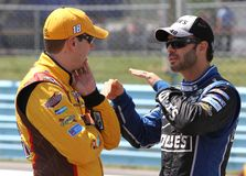 Jimmie Johnson and Kyle Busch Royalty Free Stock Photography