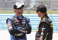 Jimmie Johnson and Marcos Ambrose Royalty Free Stock Images