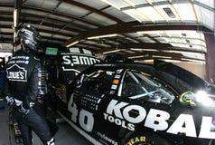 Jimmie Johnson nella zona del garage fotografia stock