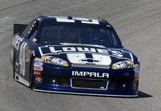 Jimmie Johnson sur la piste Images libres de droits