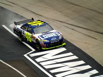 Jimmie Johnson Victory Royaltyfria Bilder