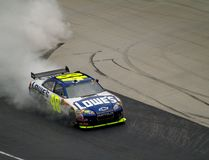 Jimmie Johnson Victory Stock Image