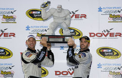 Jimmie Johnson wins the  Autism Speaks 400 Stock Photo