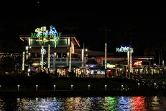 Margaritaville located at Universal City in Orlando, Florida. Jimmy Buffet`s Margaritaville at Universal City Walk located in Orlando, Florida royalty free stock photo