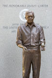 Jimmy Carter Statue Lizenzfreie Stockfotos