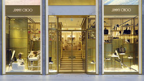 Jimmy choo boutique, hong kong Royalty Free Stock Photography