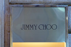 Jimmy Choo brand. Shop in Rome, Italy Royalty Free Stock Image