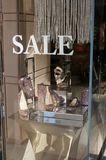 Jimmy Choo Window Display Royalty Free Stock Image