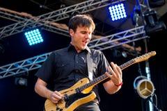 Jimmy Eat World-Rockband führen im Konzert am Dcode-Musik-Festival durch stockbild
