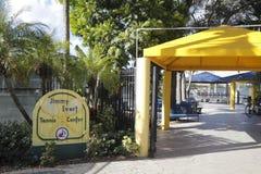 Jimmy Evert Tennis Center Building-Zeichen Stockbild