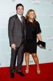 Jimmy Fallon e Nancy Juvonen Imagens de Stock Royalty Free