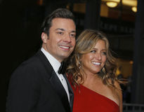 Jimmy Fallon and Nancy Juvonen Stock Photography
