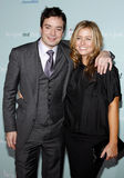 Jimmy Fallon und Nancy Juvonen lizenzfreies stockfoto