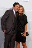 Jimmy Fallon y Nancy Juvonen fotografía de archivo libre de regalías