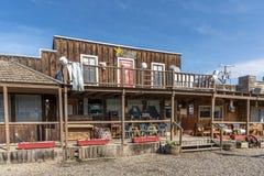 Jimmy Jock Boardwalk no vale grande, Alberta imagem de stock