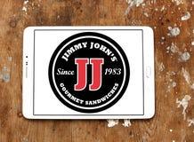 Jimmy John-` s Sandwich-Restaurantlogo lizenzfreies stockfoto