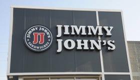 Jimmy Johns Sandwich-Zeichen stockfotografie