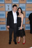 Jimmy Kimmel. & wife SARA SILVERMAN at Film Independent's 2006 Independent Spirit Awards on the beach in Santa Monica. March 4, 2006  Santa Monica, CA  2006 Royalty Free Stock Images