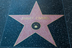 Jimmy Kimmel Hollywood Star. HOLLYWOOD, CALIFORNIA - February 8 2015: Jimmy Kimmel's Hollywood Walk of Fame star on February 8, 2015 in Hollywood, CA Stock Photo