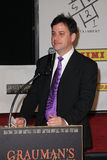 Jimmy Kimmel. At the Kobe Bryant Hand and Footprint Ceremony, Chinese Theater, Hollywood, CA. 02-19-11 Royalty Free Stock Photo