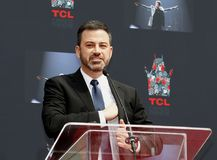 Jimmy Kimmel. At Lionel Richie Hand And Footprint Ceremony held at the TCL Chinese Theatre in Hollywood, USA on March 7, 2018 Stock Photography