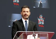 Jimmy Kimmel. At Lionel Richie Hand And Footprint Ceremony held at the TCL Chinese Theatre in Hollywood, USA on March 7, 2018 Royalty Free Stock Photo