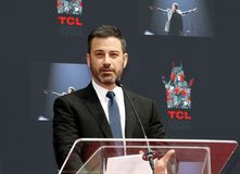 Jimmy Kimmel. At Lionel Richie Hand And Footprint Ceremony held at the TCL Chinese Theatre in Hollywood, USA on March 7, 2018 Stock Image