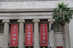Jimmy Kimmel Live. ! is an American late-night talk show, created and hosted by James Jimmy Kimmel, and transmitted on ABC Royalty Free Stock Image