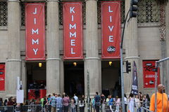 Jimmy Kimmel Live. ! is an American late-night talk show, created and hosted by James Jimmy Kimmel, and transmitted on ABC Stock Photo