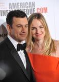 Jimmy Kimmel & Molly McNearney stock afbeelding
