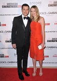 Jimmy Kimmel & Molly McNearney. LOS ANGELES, CA - OCTOBER 21, 2014: Jimmy Kimmel & wife Molly McNearney at the 28th Annual American Cinematheque Award Gala Stock Photo