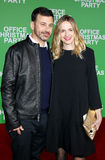 Jimmy Kimmel and Molly McNearney. At the Los Angeles premiere of `Office Christmas Party` held at the Regency Village Theatre in Westwood, USA on December 7 Royalty Free Stock Photography